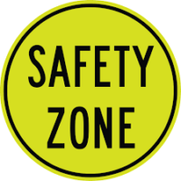 Safety Zone Sign
