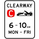 NSW Clearway Parking Sign