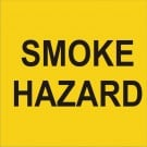 Smoke Hazard Road sign