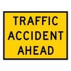 Traffic Accident Ahead Sign