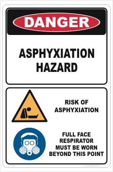 Asphyxiation Hazard sign
