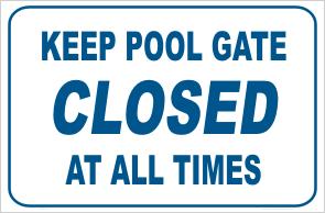 Keep Pool Gate Closed
