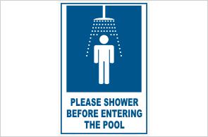 Shower before entering pool