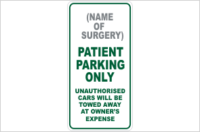 Design A Patient Parking Sign