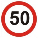 50kph Roadwork Speed Limit Square sign