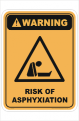 Asphyxiation Warning sign