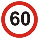 60kph Roadwork Speed Limit Square sign