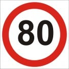 80kph Roadwork Speed Limit Square sign