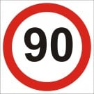 90kph Roadwork Speed Limit Square sign