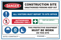 Building Site Warning sign