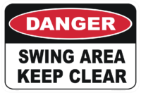 Swing Area Keep Clear