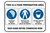 Food Preparation PPE Sign
