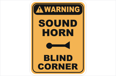Sound Horn Blind Corner