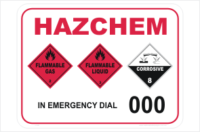 HAZCHEM gas liquid acid