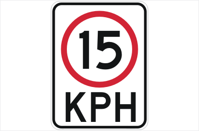 Speed restriction 15 KPH