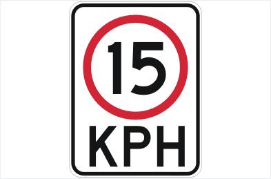 Speed restriction 15 KPH