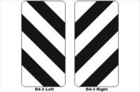 D4-3 Width Marker Sign