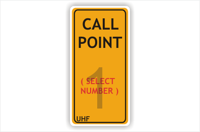 Call Point sign