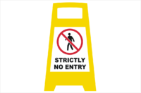Strictly no entry porta board