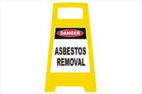 Danger Asbestos porta Sign