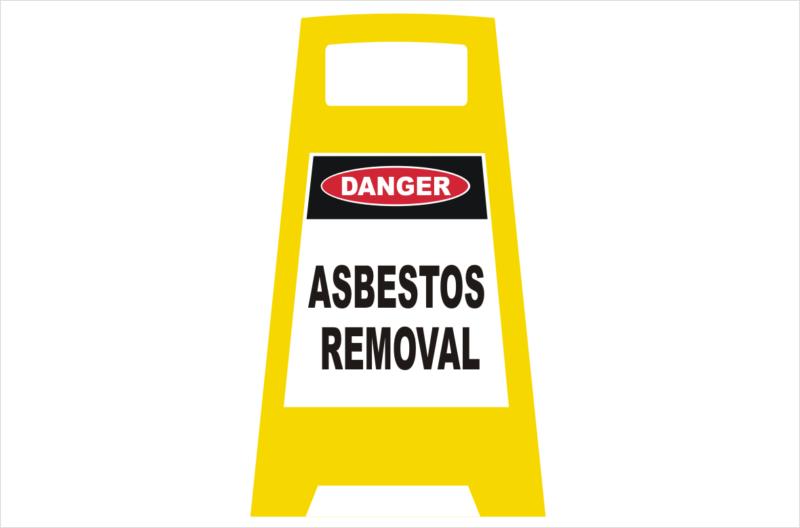 Danger Asbestos porta Sign