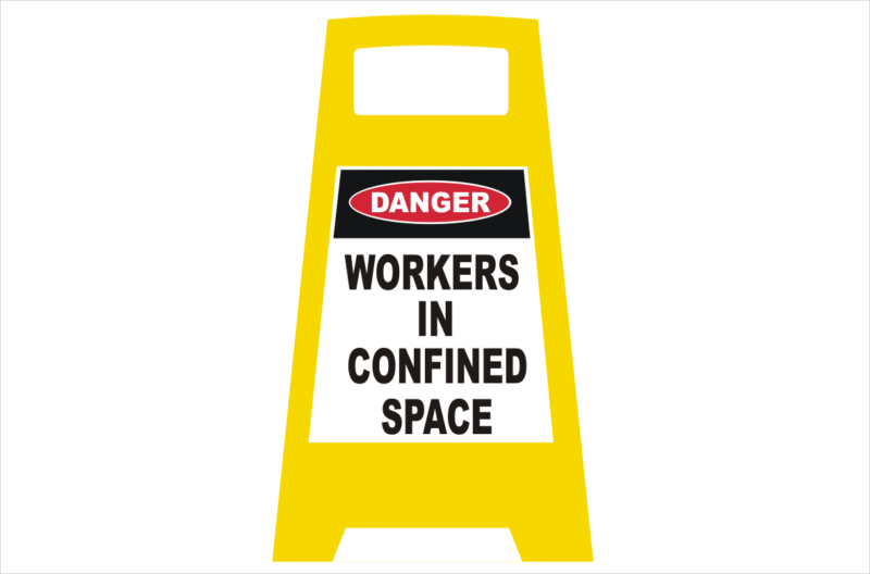 Confined Space porta Sign