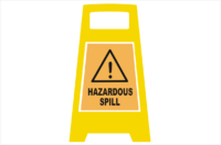 Hazardous spill Porta Board sign