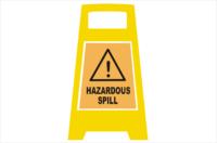 Hazardous spill Porta Board sign