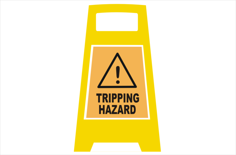 Trip Hazard Porta Board sign