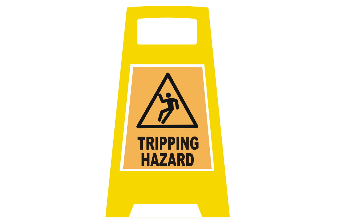 Tripping Hazard Porta Board sign