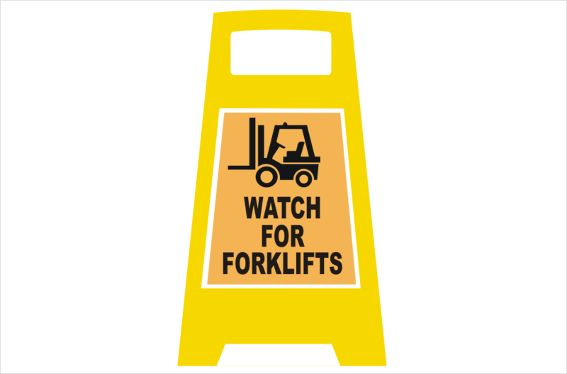 watch for Forklifts Portable sign