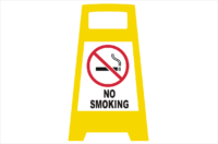 No Smoking Porta board sign