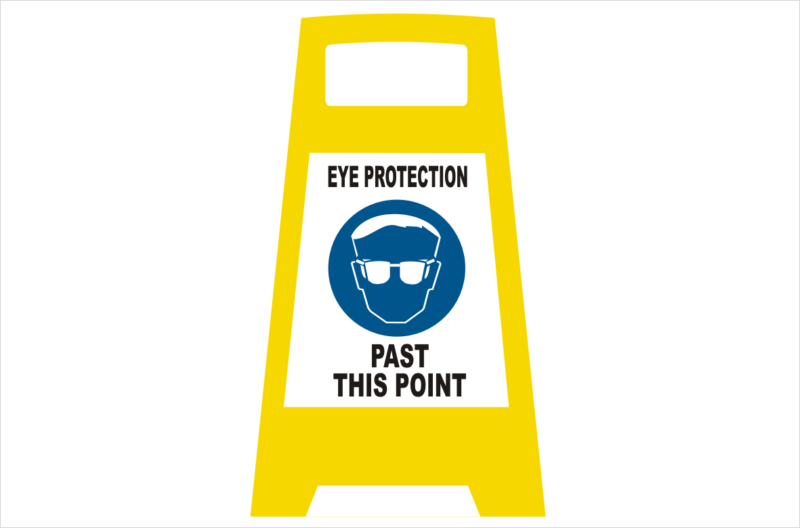 Eye Protection Porta board sign