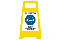Ear Protection Porta board sign