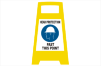 Head Protection Porta board sign