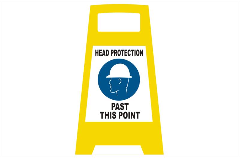 Head Protection Porta board sign