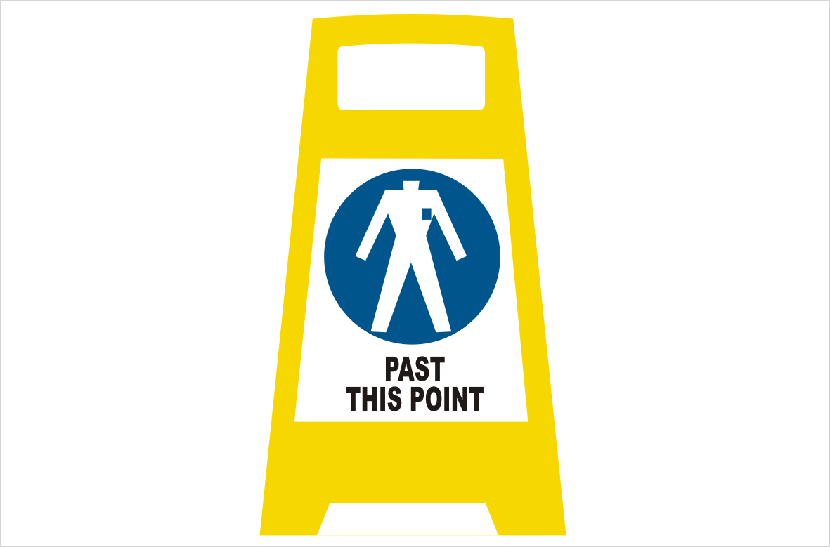 PPE Clothing Porta board sign