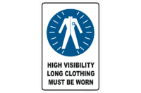 HiVis Long Clothing sign