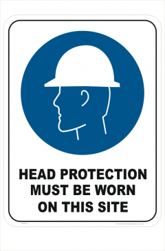 Head Protection sign