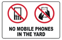 No Mobile Phones in Yard