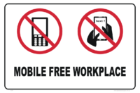 Mobile Free Workplace sign