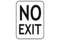 No Exit Sign - Car Park Signs, Directional Signs, Entry & Exit Signs