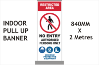 Restricted area Banner