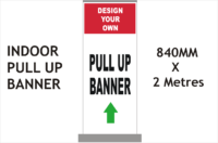 Custom roll up banner