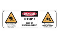 Entanglement hazard sign