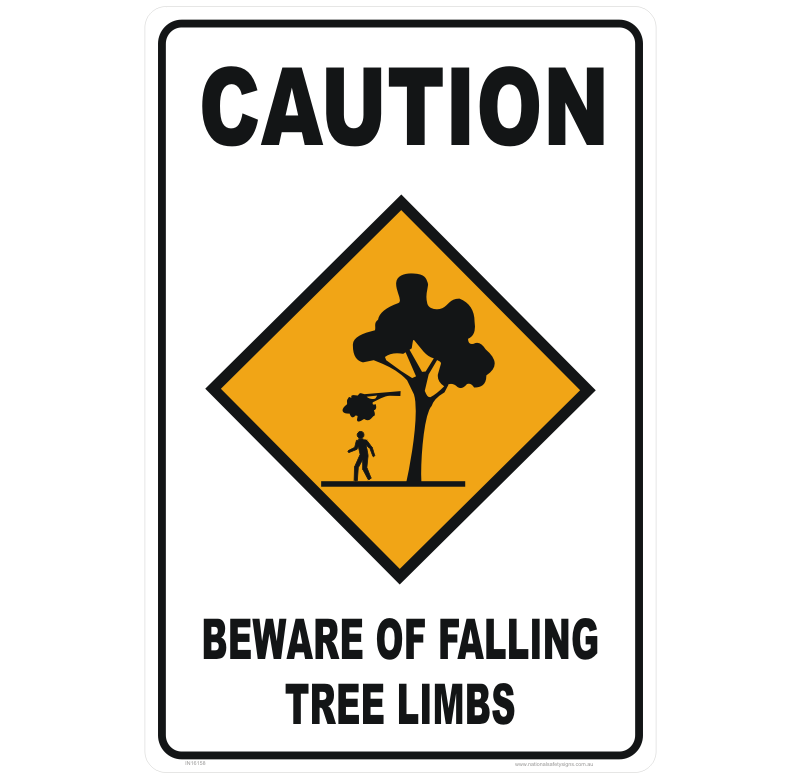 Falling Tree Limbs sign