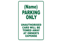 Design Parking sign