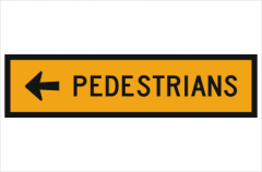 Pedestrian Left Arrow T8-2