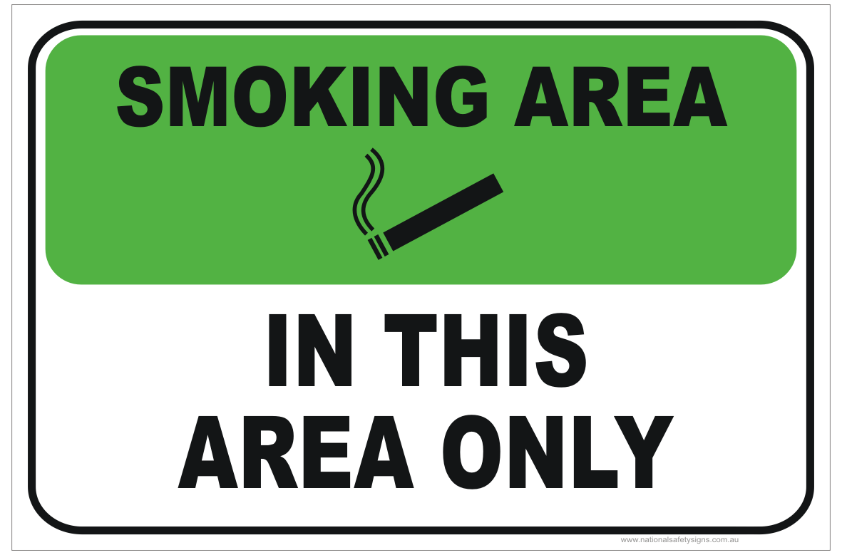 Smoking in this area only