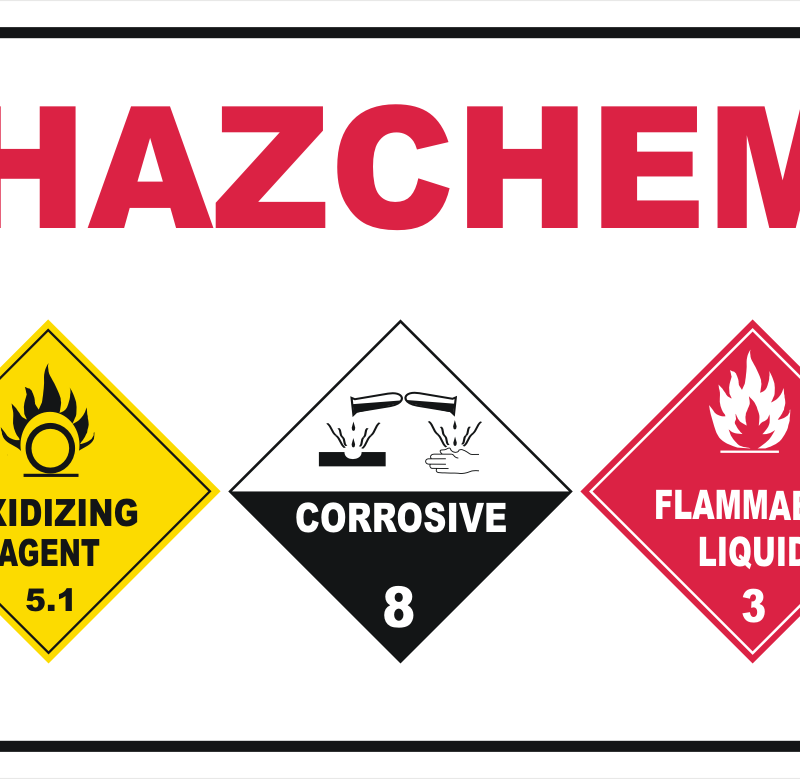 pool chemical sign